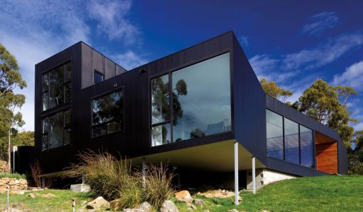 COLORBOND® steel Night Sky® in a LYSAGHT profile.