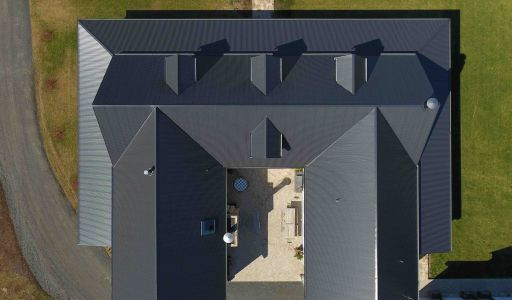 COLORBOND® steel Monument® roofing in LYSAGHT CUSTOM ORB® profile